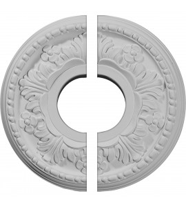 "EM-CM11HE2 - 11 7/8""OD x 3 5/8""ID x 7/8""P Helene Ceiling Medallion, Two Piece (Fits Canopies up to 5 1/4"")"