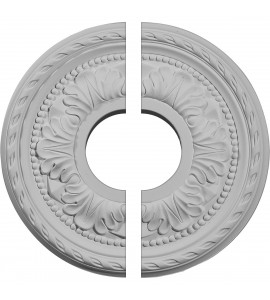 "EM-CM11PM2 - 11 3/8""OD x 3 5/8""ID x 7/8""P Palmetto Ceiling Medallion, Two Piece (Fits Canopies up to 4 1/2"")"