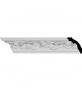 "EM-MLD02X02X02HI - 2""H x 2""P x 2 7/8""F x 94 1/2""L Hillsborough Crown Moulding"