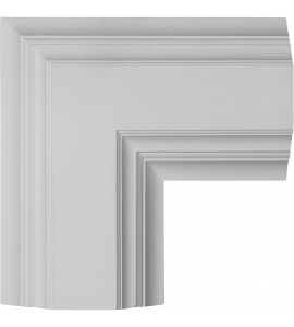 "EM-CC08ICN04X14X14DE - 14""W x 4""P x 14""L Inner Corner for 8"" Deluxe Coffered Ceiling System (Kit)"