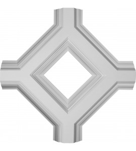 "EM-CC08IDI04X36X36DE - 36""W x 4""P x 36""L Inner Diamond Intersection for 8"" Deluxe Coffered Ceiling System (Kit)"