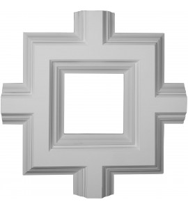 "EM-CC08ISI04X36X36DE - 36""W x 4""P x 36""L Inner Square Intersection for 8"" Deluxe Coffered Ceiling System (Kit)"