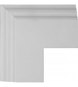 "EM-CC08POC04X14X14DE - 14""W x 4""P x 14""L Perimeter Outside Corner for 8"" Deluxe Coffered Ceiling System (Kit)"