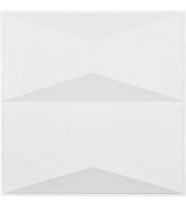 "EM-WP20X20ABWH - 19 5/8""W x 19 5/8""H Aberdeen EnduraWall Decorative 3D Wall Panel, White"