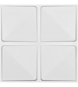 "EM-WP20X20EDWH - 19 5/8""W x 19 5/8""H Edinburgh EnduraWall Decorative 3D Wall Panel, White"