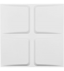 "EM-WP20X20GLWH - 19 5/8""W x 19 5/8""H Galveston EnduraWall Decorative 3D Wall Panel, White"