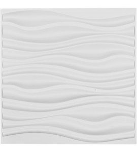 "EM-WP20X20LEWH - 19 5/8""W x 19 5/8""H Leandros EnduraWall Decorative 3D Wall Panel, White"