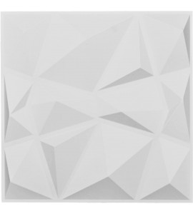 "EM-WP20X20NIWH - 19 5/8""W x 19 5/8""H Niobe EnduraWall Decorative 3D Wall Panel, White"
