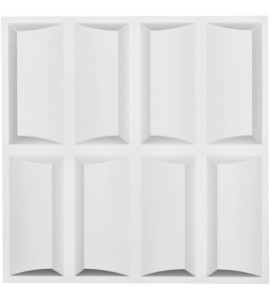 "EM-WP20X20RBWH - 19 5/8""W x 19 5/8""H Robin EnduraWall Decorative 3D Wall Panel, White"