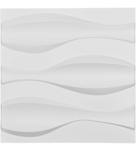 "EM-WP20X20TMWH - 19 5/8""W x 19 5/8""H Thompson EnduraWall Decorative 3D Wall Panel, White"