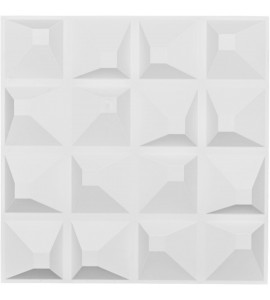 "EM-WP20X20TNWH - 19 5/8""W x 19 5/8""H Tristan EnduraWall Decorative 3D Wall Panel, White"