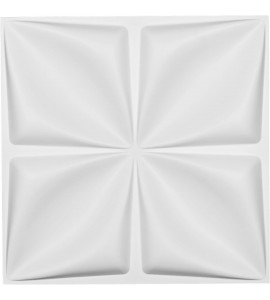 "EM-WP20X20RLWH - 19 5/8""W x 19 5/8""H Riley EnduraWall Decorative 3D Wall Panel, White"