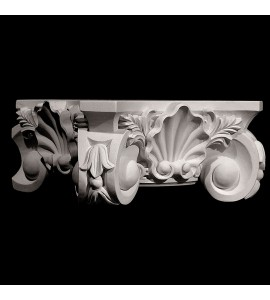 BASE-103T Shell and Acanthus Leaf resin base