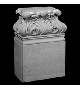 BASE-104 Acanthus Leaf Resin Columns Base