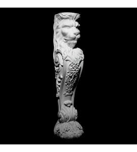 BASE-120 Series Lion Fireplace Mantel Resin Base With Acanthus Leaf and Scroll