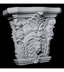 CAP-132 Series Acanthus Leaf and Lion Face Resin Capitol
