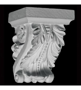 CB-100 Acanthus Leaf and Bead Resin Corbel