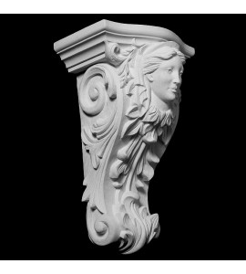 CB-301 Acanthus Leaf with Woman Face Resin Corbel