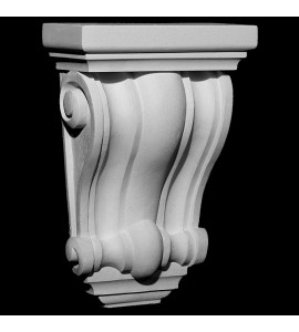 CB-306 Smooth Profile Concave and Convex Ridges Resin Corbel