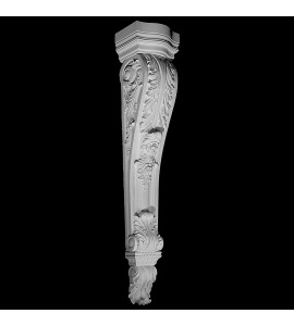 CB-315 Acanthus Leaf with Roses Resin Corbel