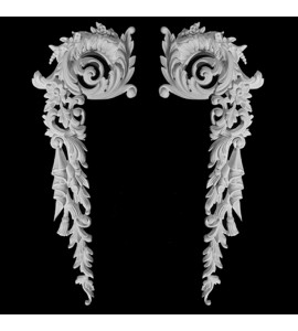 CE-107 Acanthus Leaf and Floral Resin Corner Element