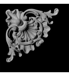 CE-137B Acanthus Leaf and Shell Resin Corner Element