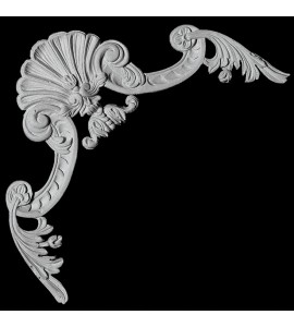 CE-141 Series Shell with Acanthus Leaf Scrolls Resin Corner Element