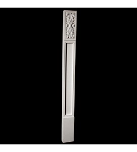 COLM-131AR Craftsman Style Resin Column With Acanthus Leaf Rosette