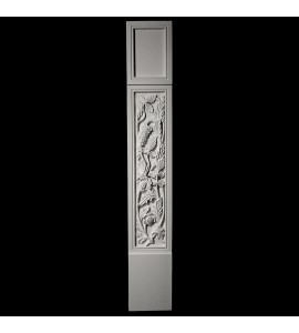 COLM-131-3 Series Craftsman Style Resin Column With Floral Onlay