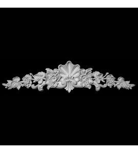 CT-185 Series Shell with Floral and Acanthus Leaf Resin Cartouche