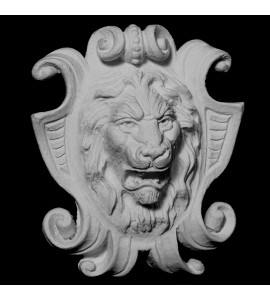 FACE-113 Series Resin Lion on Shield Face