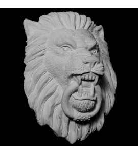 FACE-122 Series Resin Lion Face with Knocker Ring