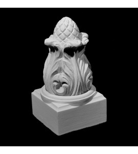 FIN-130 Acanthus Leaf with Square Base Resin Finial