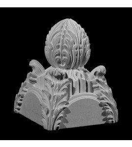 FIN-102 Acanthus Leaf 4 Way Intersection Resin Finial