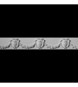 FRZ-105 Shield and Floral Swags Resin Frieze Moulding