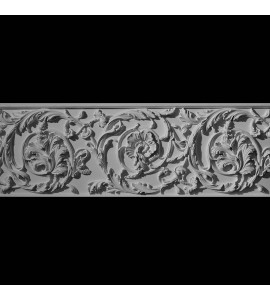 FRZ-115 Series Large Circular Leaf & Vine with Florets Resin Frieze Moulding