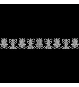FRZ-186 Scalloped Floret and Swag Resin Frieze Moulding
