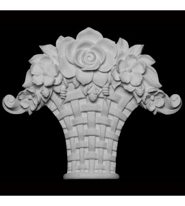 KS-101 Series Floral with Woven Basket Resin Keystone