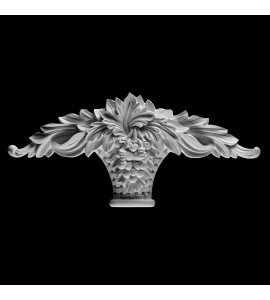 KS-104-XT Series Extended Grapes and Acanthus Leaf In Woven Basket Resin Keystone