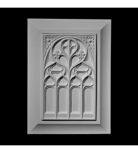 PANL-1-150 Series Gothic Insert with Cove Detail Frame Resin Panel
