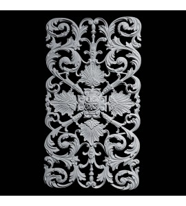 PANL-103 Series Flower and Vine Open Back Resin Panel