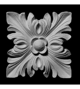 ROST-108 Series Square Leaf with Floret Center Resin Rosette