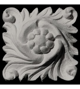 ROST-133 Series Square Leaf with Center Floret Resin Rosette