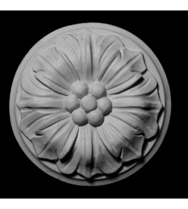 ROST-137 Round Flower with Backing Resin Rosette