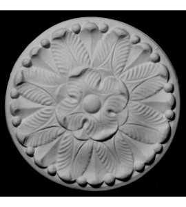 ROST-145 Round Flower on Circular Backing Resin Rosette