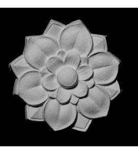 ROST-156 Flower with Scalloped Petals Resin Rosette