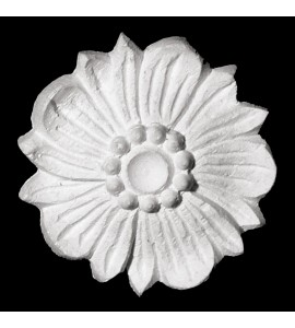 ROST-160 Round Floral Petals Resin Rosette