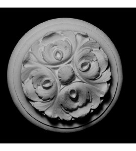 ROST-165 Round Flower on Backing Resin Rosette