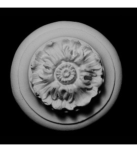 ROST-166 Round Flower on Heavy Back Resin Rosette