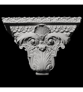 SCON-100 Shell and Acanthus Leaf Resin Wall Sconce